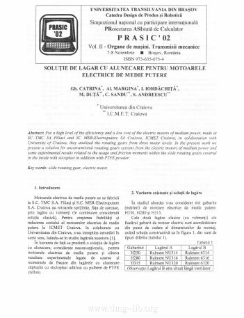 Soluţie de lagăr cu alunecare pentru motoarele electrice de medie putere