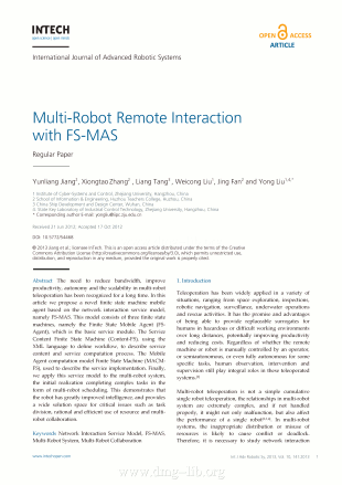 Multi-Robot Remote Interaction with FS-MAS; Interazione remota di robot multiplu con FS-MAS