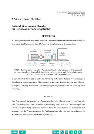 Entwurf einer neuen Struktur für Schnecken-Planetengetriebe