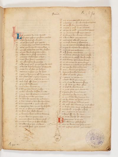 Bern, Burgerbibliothek, Cod. A 95.10 : Boethius: Livre de consolation; Guillaume de Machaut: Le confort d'ami