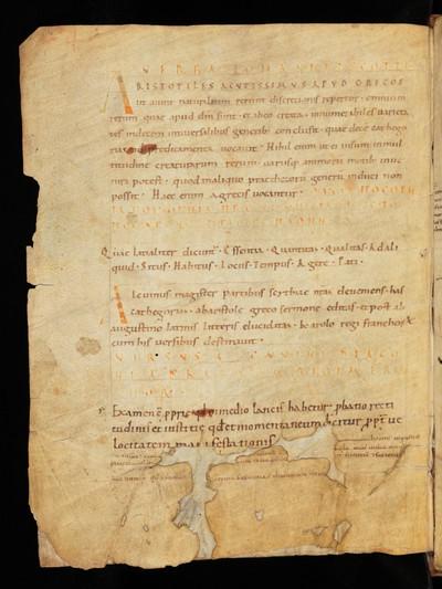 St. Gallen, Stiftsbibliothek, Cod. Sang. 274 : Ps.-Augustinus, Categoriae decem ex Aristotele decerptae