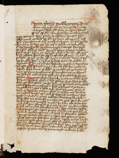 St. Gallen, Stiftsbibliothek, Cod. Sang. 839 : Nicolas Oresme, Commentary on Aristotle