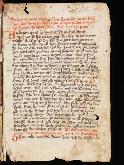 6226bc01 St. Gallen, Stiftsbibliothek, Cod. Sang. 965 : 15th century composite  manuscript containing ascetic-mystical texts | Mester Eckhart