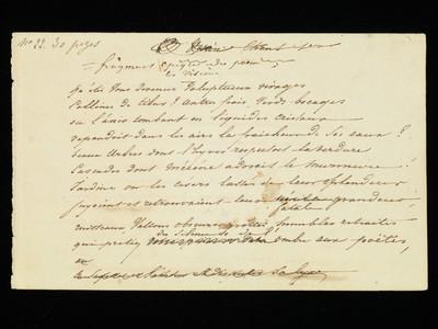 Cologny, Fondation Martin Bodmer, L-5.2 : Alphonse de Lamartine, <i>Les Visions</i> (Song II), autograph