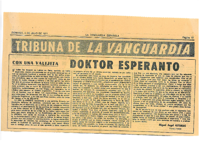 Doktor Esperanto / Miguel Ángel Asturias