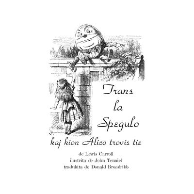 Trans la spegulo kaj kion Alico trovis tie / de Lewis Carroll ; kun kvindek ilustraĵoj de John Tenniel ; tradukita de Donald Broadribb