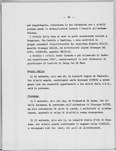 Image from object titled Notizia tratta dal Notiziario della Guardia Nazionale Repubblicana del giorno 28-05-1944