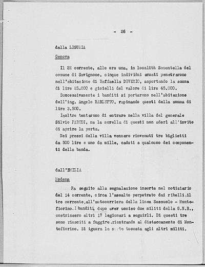 Image from object titled Notizia tratta dal Notiziario della Guardia Nazionale Repubblicana del giorno 29-05-1944