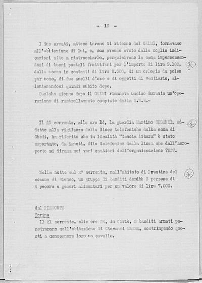 Image from object titled Notizia tratta dal Notiziario della Guardia Nazionale Repubblicana del giorno 31-05-1944