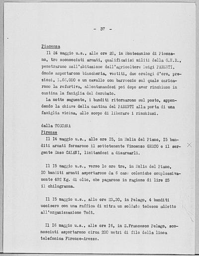 Image from object titled Notizia tratta dal Notiziario della Guardia Nazionale Repubblicana del giorno 03-06-1944