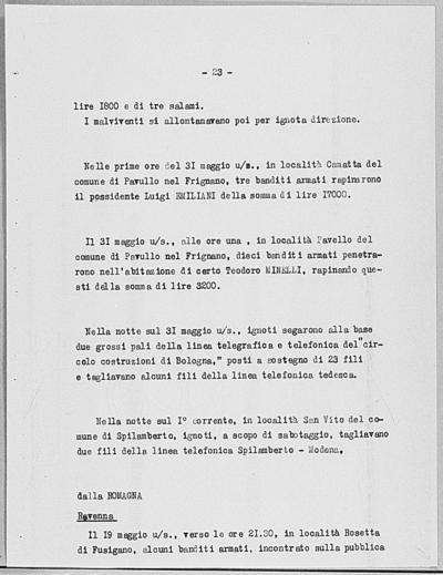 Image from object titled Notizia tratta dal Notiziario della Guardia Nazionale Repubblicana del giorno 04-06-1944