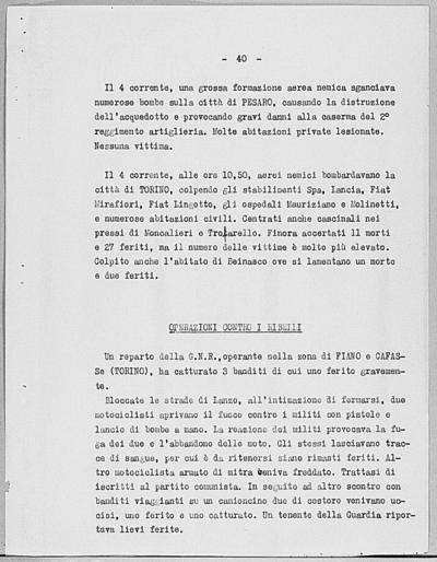 Image from object titled Notizia tratta dal Notiziario della Guardia Nazionale Repubblicana del giorno 05-06-1944