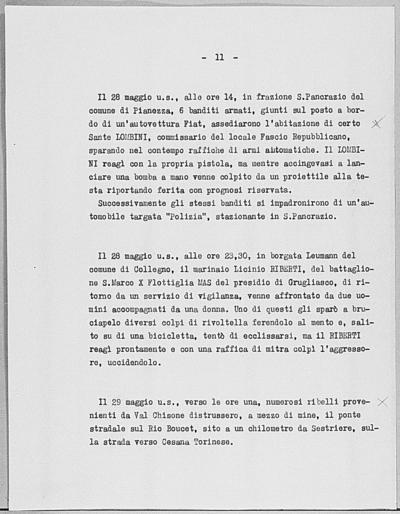 Image from object titled Notizia tratta dal Notiziario della Guardia Nazionale Repubblicana del giorno 06-06-1944