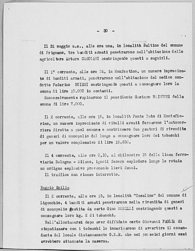 Image from object titled Notizia tratta dal Notiziario della Guardia Nazionale Repubblicana del giorno 07-06-1944