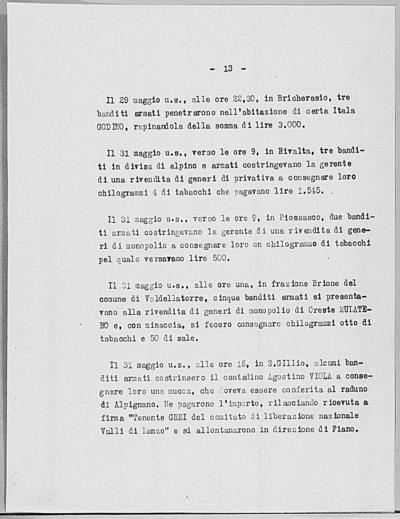 Image from object titled Notizia tratta dal Notiziario della Guardia Nazionale Repubblicana del giorno 10-06-1944