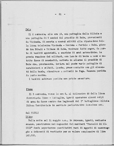 Image from object titled Notizia tratta dal Notiziario della Guardia Nazionale Repubblicana del giorno 11-06-1944
