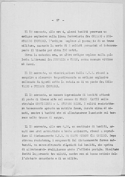 Image from object titled Notizia tratta dal Notiziario della Guardia Nazionale Repubblicana del giorno 13-06-1944