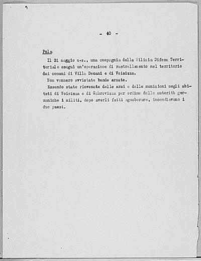 Image from object titled Notizia tratta dal Notiziario della Guardia Nazionale Repubblicana del giorno 15-06-1944