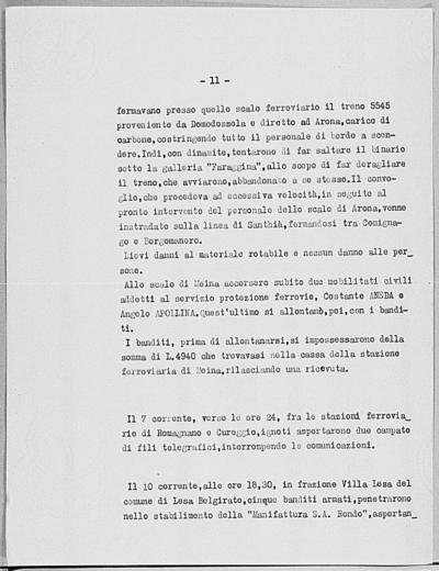 Image from object titled Notizia tratta dal Notiziario della Guardia Nazionale Repubblicana del giorno 19-06-1944