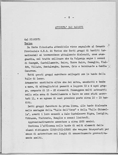 Image from object titled Notizia tratta dal Notiziario della Guardia Nazionale Repubblicana del giorno 20-06-1944