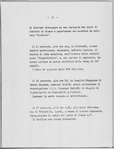 Image from object titled Notizia tratta dal Notiziario della Guardia Nazionale Repubblicana del giorno 21-06-1944