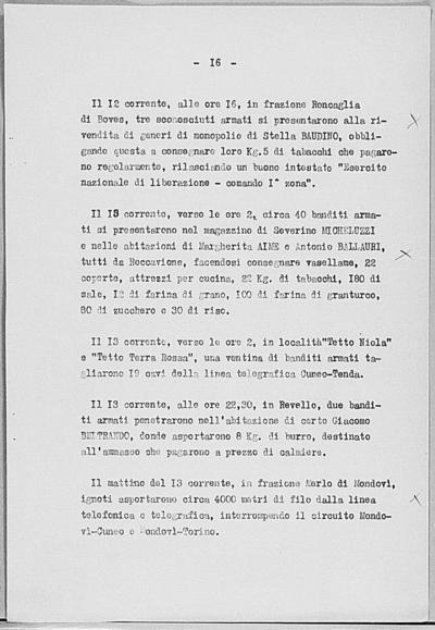 Image from object titled Notizia tratta dal Notiziario della Guardia Nazionale Repubblicana del giorno 22-06-1944