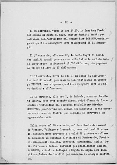 Image from object titled Notizia tratta dal Notiziario della Guardia Nazionale Repubblicana del giorno 27-06-1944