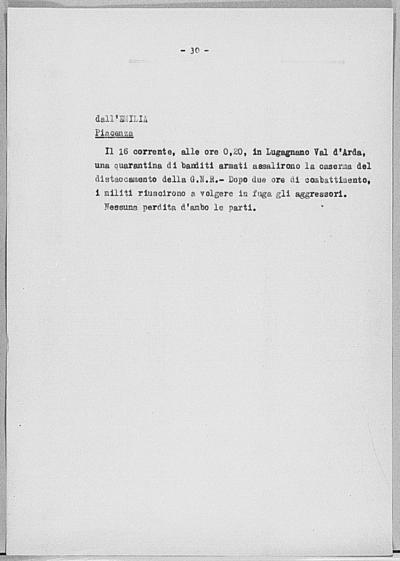 Image from object titled Notizia tratta dal Notiziario della Guardia Nazionale Repubblicana del giorno 28-06-1944