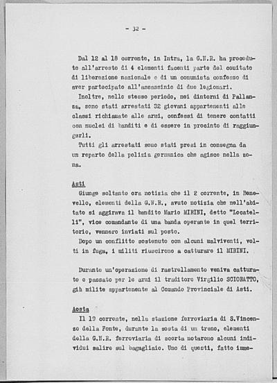 Image from object titled Notizia tratta dal Notiziario della Guardia Nazionale Repubblicana del giorno 29-06-1944