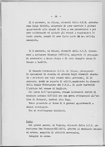 Image from object titled Notizia tratta dal Notiziario della Guardia Nazionale Repubblicana del giorno 17-07-1944