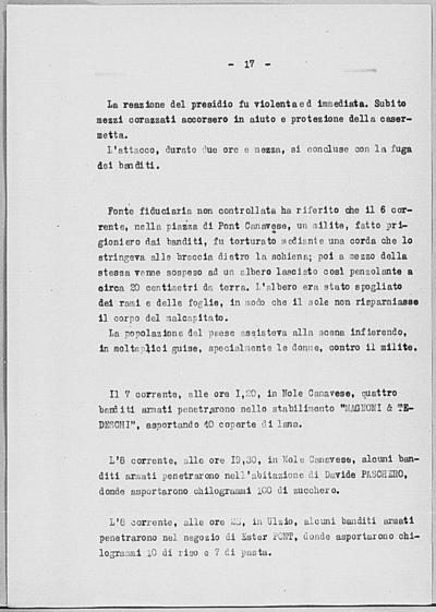 Image from object titled Notizia tratta dal Notiziario della Guardia Nazionale Repubblicana del giorno 18-07-1944