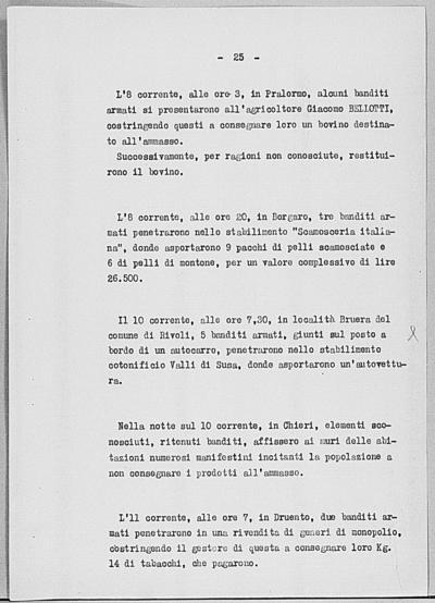 Image from object titled Notizia tratta dal Notiziario della Guardia Nazionale Repubblicana del giorno 19-07-1944