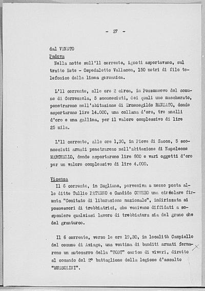 Image from object titled Notizia tratta dal Notiziario della Guardia Nazionale Repubblicana del giorno 20-07-1944