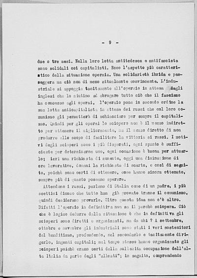 Image from object titled Notizia tratta dal Notiziario della Guardia Nazionale Repubblicana del giorno 23-07-1944