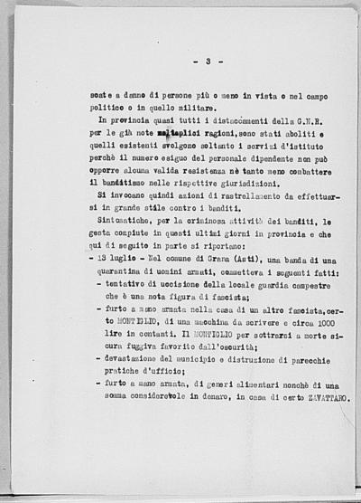 Image from object titled Notizia tratta dal Notiziario della Guardia Nazionale Repubblicana del giorno 26-07-1944