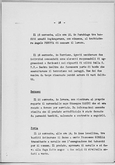 Image from object titled Notizia tratta dal Notiziario della Guardia Nazionale Repubblicana del giorno 28-07-1944