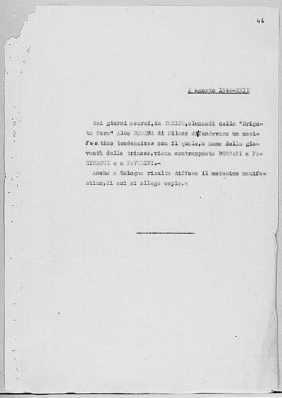 Image from object titled Notizia tratta dal Notiziario della Guardia Nazionale Repubblicana del giorno 02-08-1944
