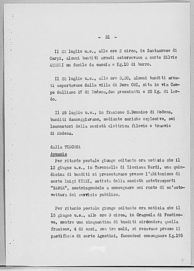 Image from object titled Notizia tratta dal Notiziario della Guardia Nazionale Repubblicana del giorno 03-08-1944