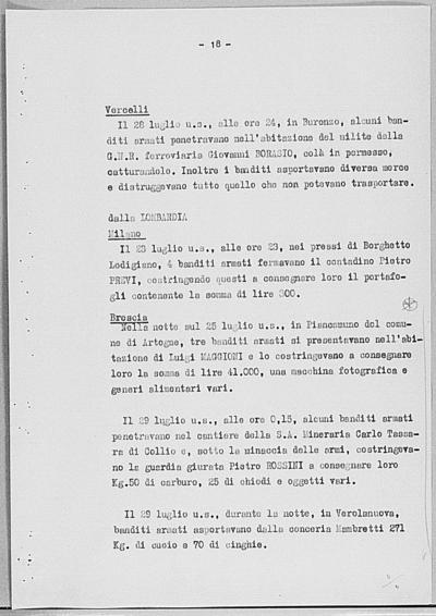 Image from object titled Notizia tratta dal Notiziario della Guardia Nazionale Repubblicana del giorno 04-08-1944