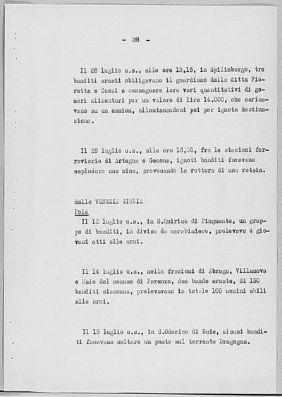 Image from object titled Notizia tratta dal Notiziario della Guardia Nazionale Repubblicana del giorno 06-08-1944