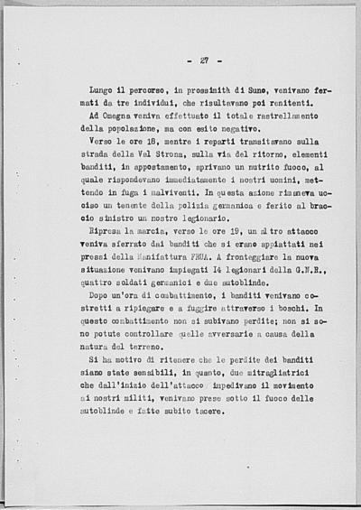 Image from object titled Notizia tratta dal Notiziario della Guardia Nazionale Repubblicana del giorno 10-08-1944