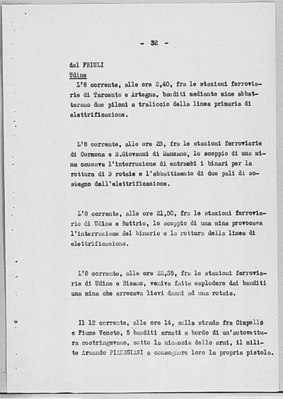 Image from object titled Notizia tratta dal Notiziario della Guardia Nazionale Repubblicana del giorno 17-08-1944