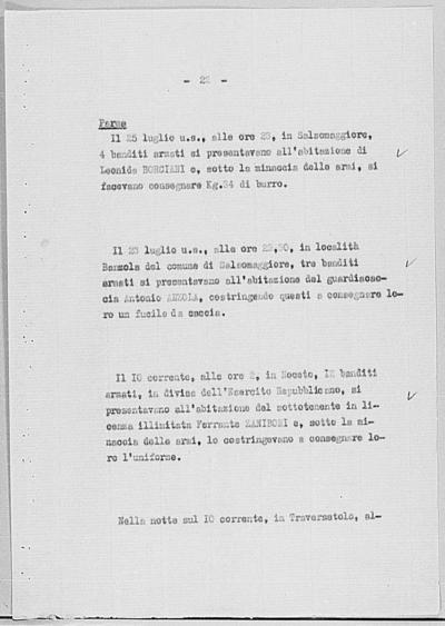 Image from object titled Notizia tratta dal Notiziario della Guardia Nazionale Repubblicana del giorno 18-08-1944