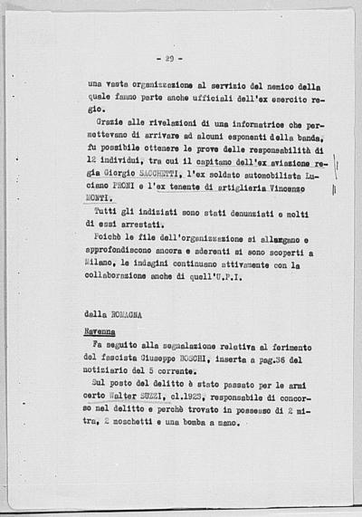 Image from object titled Notizia tratta dal Notiziario della Guardia Nazionale Repubblicana del giorno 21-08-1944