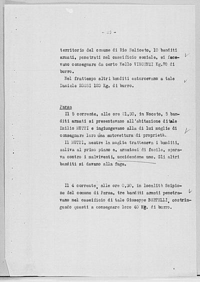 Image from object titled Notizia tratta dal Notiziario della Guardia Nazionale Repubblicana del giorno 25-08-1944