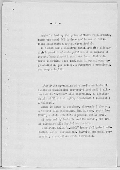 Image from object titled Notizia tratta dal Notiziario della Guardia Nazionale Repubblicana del giorno 26-08-1944