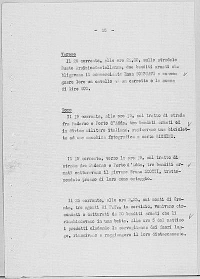 Image from object titled Notizia tratta dal Notiziario della Guardia Nazionale Repubblicana del giorno 30-08-1944
