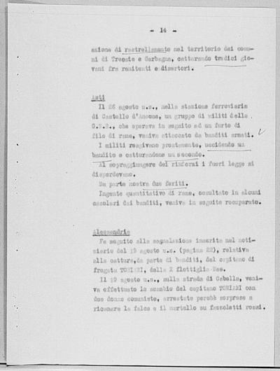 Image from object titled Notizia tratta dal Notiziario della Guardia Nazionale Repubblicana del giorno 05-09-1944