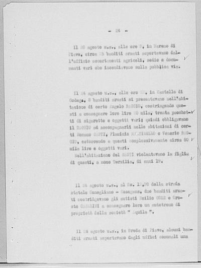 Image from object titled Notizia tratta dal Notiziario della Guardia Nazionale Repubblicana del giorno 11-09-1944