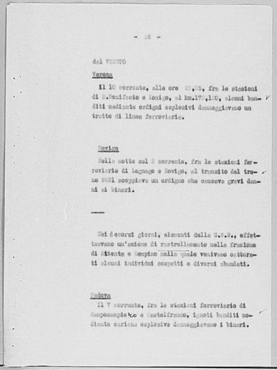 Image from object titled Notizia tratta dal Notiziario della Guardia Nazionale Repubblicana del giorno 13-09-1944